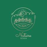 Φύση λογότυπων Διανυσματική απεικόνιση