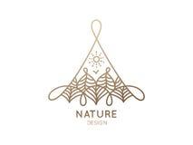Φύση λογότυπων Απεικόνιση αποθεμάτων