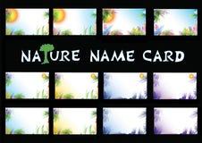 φύση ονόματος καρτών Στοκ φωτογραφία με δικαίωμα ελεύθερης χρήσης