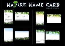 φύση ονόματος καρτών Στοκ εικόνες με δικαίωμα ελεύθερης χρήσης