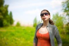 φύση περιτυλίξεων κοριτσ Στοκ εικόνες με δικαίωμα ελεύθερης χρήσης