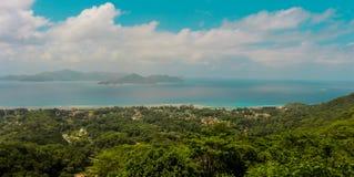 φύση Σεϋχέλλες τοπίων Λα νησιών ανασκόπησης digue στοκ φωτογραφίες