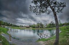 Φύση στα ελατήρια Φλώριδα δίνης τη βροχερή ημέρα Στοκ Εικόνα