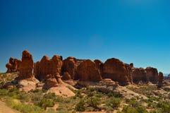 Φύση στο εθνικό πάρκο αψίδων στοκ εικόνες
