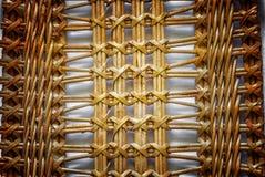 Φύση σχεδίων για το υπόβαθρο της λυγαριάς σύστασης ύφανσης βιοτεχνίας Στοκ Εικόνες