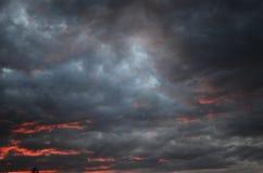 Φύση, σύννεφα, ηλιοβασίλεμα Στοκ Εικόνες