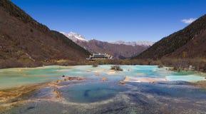 Φύση ταξιδιού πολλοί λίμνη στο huanglong, Κίνα Στοκ Εικόνα