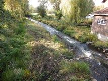 Φύση, τοπίο με έναν κολπίσκο, στη Γερμανία στοκ εικόνα με δικαίωμα ελεύθερης χρήσης