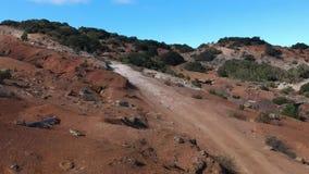 Φύση του Λα Gomera άνωθεν από τον κηφήνα απόθεμα βίντεο