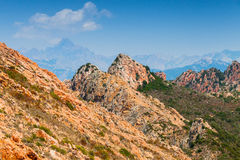 Φύση του Corse-du-sud Νότια περιοχή της Κορσικής Στοκ φωτογραφία με δικαίωμα ελεύθερης χρήσης