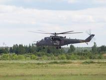 Φύτευση του Ρώσου mi-35 Στοκ εικόνα με δικαίωμα ελεύθερης χρήσης
