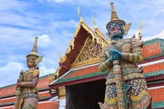 Φύλακας δαιμόνων σε Wat Phra Kaew Στοκ Φωτογραφίες