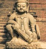 Φύλακας του ναού Nyatapola, Bhaktapur Στοκ Εικόνα