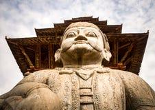 Φύλακας του ναού Nyatapola, Bhaktapur Στοκ Εικόνες