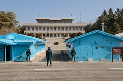 Φύλαξη των βορρά-νότου συνόρων της Κορέας Στοκ φωτογραφίες με δικαίωμα ελεύθερης χρήσης