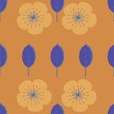 Φύλλα και λουλούδια Στοκ Εικόνα