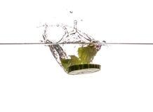 Φύλλα μεντών και φέτα αγγουριών Στοκ εικόνες με δικαίωμα ελεύθερης χρήσης