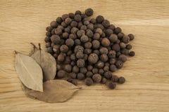 Φύλλα πιπεριών και κόλπων Στοκ Φωτογραφίες