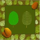 Φύλλα στο ύφος φθινοπώρου ελεύθερη απεικόνιση δικαιώματος