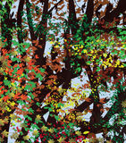 Φύλλα φθινοπώρου επίσης corel σύρετε το διάνυσμα απεικόνισης Στοκ Εικόνα