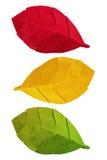 Φύλλα φθινοπώρου Origami Στοκ εικόνα με δικαίωμα ελεύθερης χρήσης