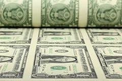 Φύλλο αμερικανικών δολαρίων Στοκ Φωτογραφίες