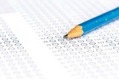 Φύλλο απάντησης με το μολύβι Στοκ φωτογραφία με δικαίωμα ελεύθερης χρήσης