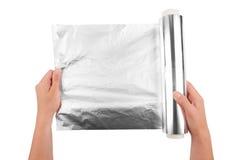 Φύλλο αλουμινίου αργιλίου Στοκ Φωτογραφίες