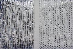 Φύλλο αλουμινίου και καθαρή σύσταση Στοκ φωτογραφίες με δικαίωμα ελεύθερης χρήσης