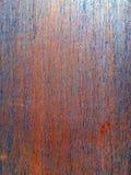 Φύλλο μετάλλων με τη φωτεινή πορτοκαλιά και μπλε σκουριά Στοκ Εικόνες