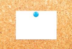 Φύλλο του εγγράφου για το φελλό Στοκ Φωτογραφίες