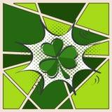 Φύλλο τριφυλλιών για την ευτυχή ημέρα του ST Πάτρικ Στοκ Εικόνες
