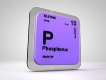 Φώσφορος - Π - χημικός περιοδικός πίνακας στοιχείων Στοκ Εικόνες