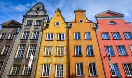 Φλαμανδικά σπίτια ύφους στο Γντανσκ Στοκ Εικόνες