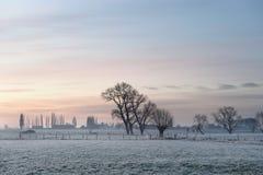 Φλαμανδικό χειμερινό τοπίο Στοκ φωτογραφία με δικαίωμα ελεύθερης χρήσης