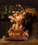 Φλεμένος κέικ Στοκ Εικόνα