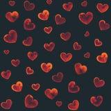 Φλεμένος καρδιές Στοκ Φωτογραφία