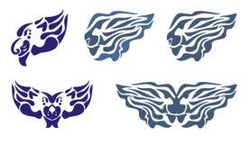 Φλεμένος κεφάλι και φτερά λιονταριών νερού Στοκ εικόνα με δικαίωμα ελεύθερης χρήσης