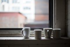 Φλιτζάνια του καφέ και τσάι Στοκ Εικόνες