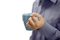 φλιτζάνι του καφέ λαβής γυναικών Στοκ Εικόνες