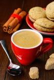 Φλιτζάνι του καφέ και μπισκότα Στοκ Φωτογραφία