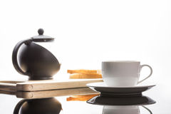 Φλιτζάνι του καφέ και ψωμιά στοκ εικόνες