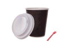 Φλιτζάνι του καφέ με τη σέσουλα Στοκ Εικόνες