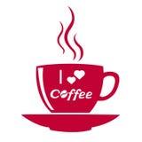 Φλιτζάνι του καφέ που απομονώνεται Στοκ Εικόνες
