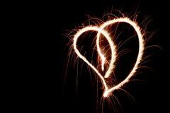 Φλογερή καρδιά Στοκ φωτογραφίες με δικαίωμα ελεύθερης χρήσης