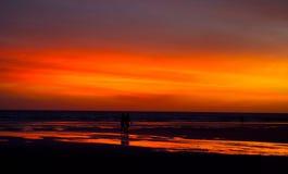 Φλογερό βραζιλιάνο ηλιοβασίλεμα Στοκ Εικόνες