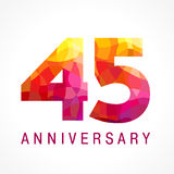 45 φλογερό λογότυπο χρονών εορτασμού Στοκ Εικόνα