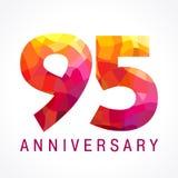 95 φλογερό λογότυπο χρονών εορτασμού Στοκ Φωτογραφία