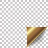 Φλούδα γωνιών εγγράφου Κενό φύλλο της διπλωμένης κολλώδους σημείωσης εγγράφου επίσης corel σύρετε το διάνυσμα απεικόνισης Στοκ Φωτογραφία