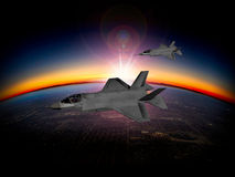 Φ-35 σύγχρονος μαχητής μυστικότητας ελεύθερη απεικόνιση δικαιώματος